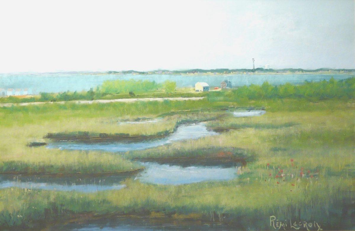 Cap-Cod, Maine - Pastel 12x18 po