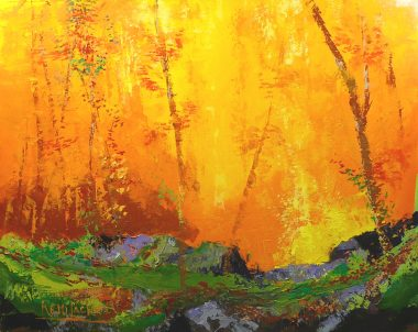 Clairière no 3 - 24x30 po - Acrylique sur toile
