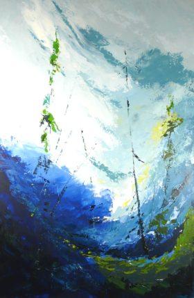 Terre d'hiver no 15 - 36x24 po - Acrylique sur toile