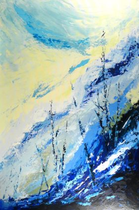 Terre d'hiver no 11 - 36x24 po - Acrylique sur toile