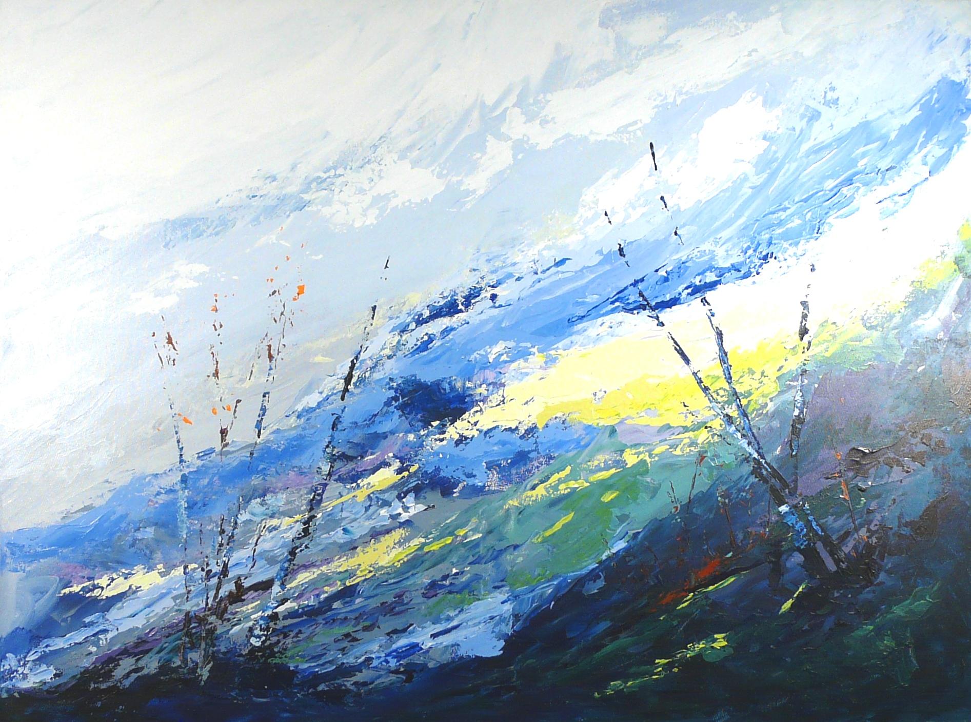 Terre d'hiver no 18 - 30x40 po - Acrylique sur toile (Disponible)