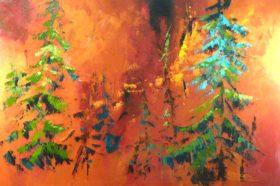 Terre de feu no 6 - 24x36 - Acrylique sur toile