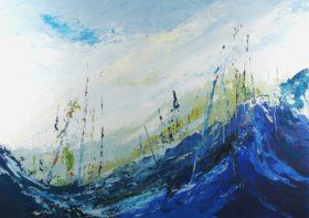 Terre d'hiver no 16 - 24x28 - Acrylique sur toile