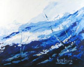 Terre d'hiver no 19 - 16x20 po - Acrylique sur toile